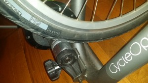 "Trek 24"" wheels in CycleOps Magneto trainer"